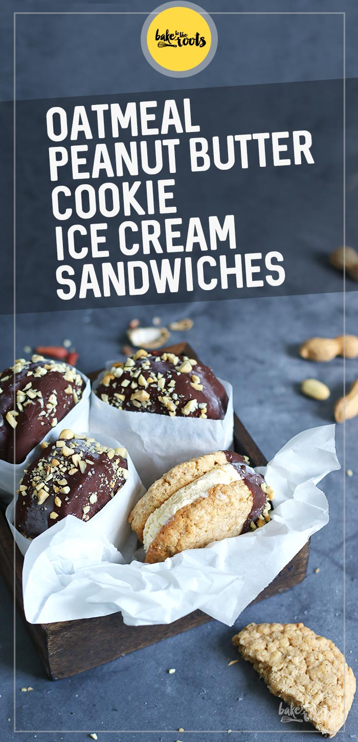 Oatmeal Peanut Butter Cookie Ice Cream Sandwiches | Bake to the roots