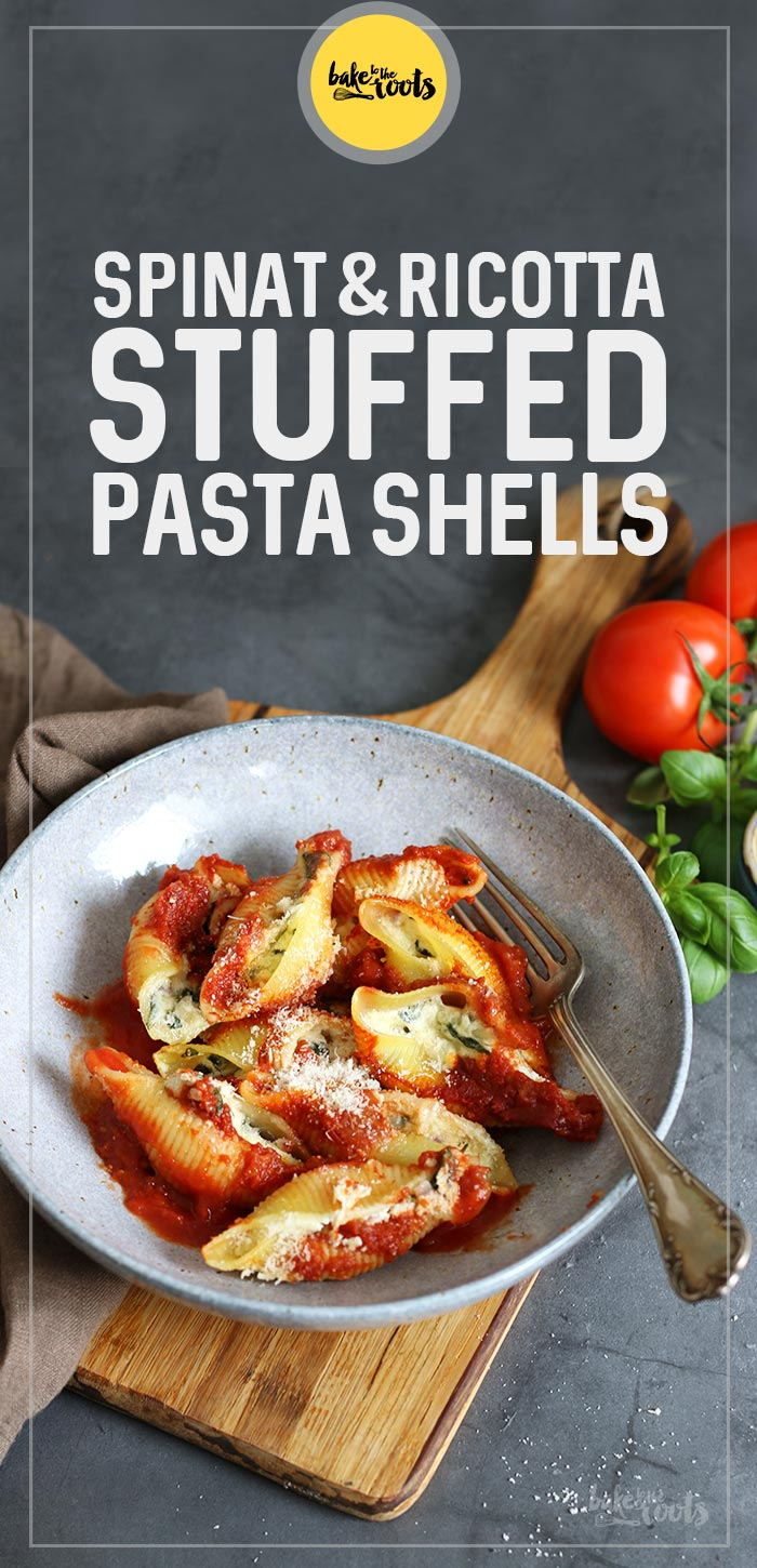 Spinat und Ricotta Stuffed Pasta Shells | Bake to the roots