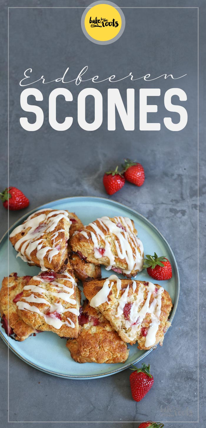 Erdbeeren Scones | Bake to the roots