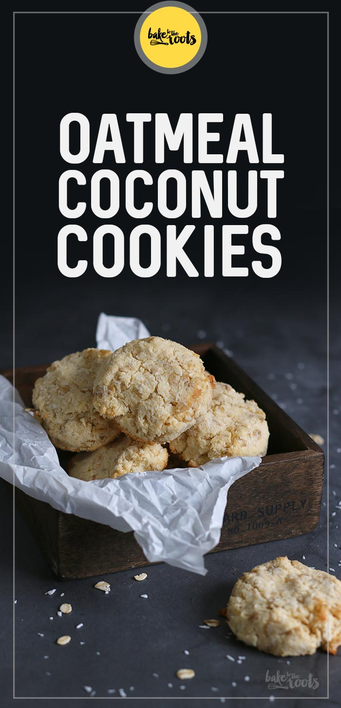 Oatmeal Coconut Cookies (gluten-free & sugar-free) | Bake to the roots