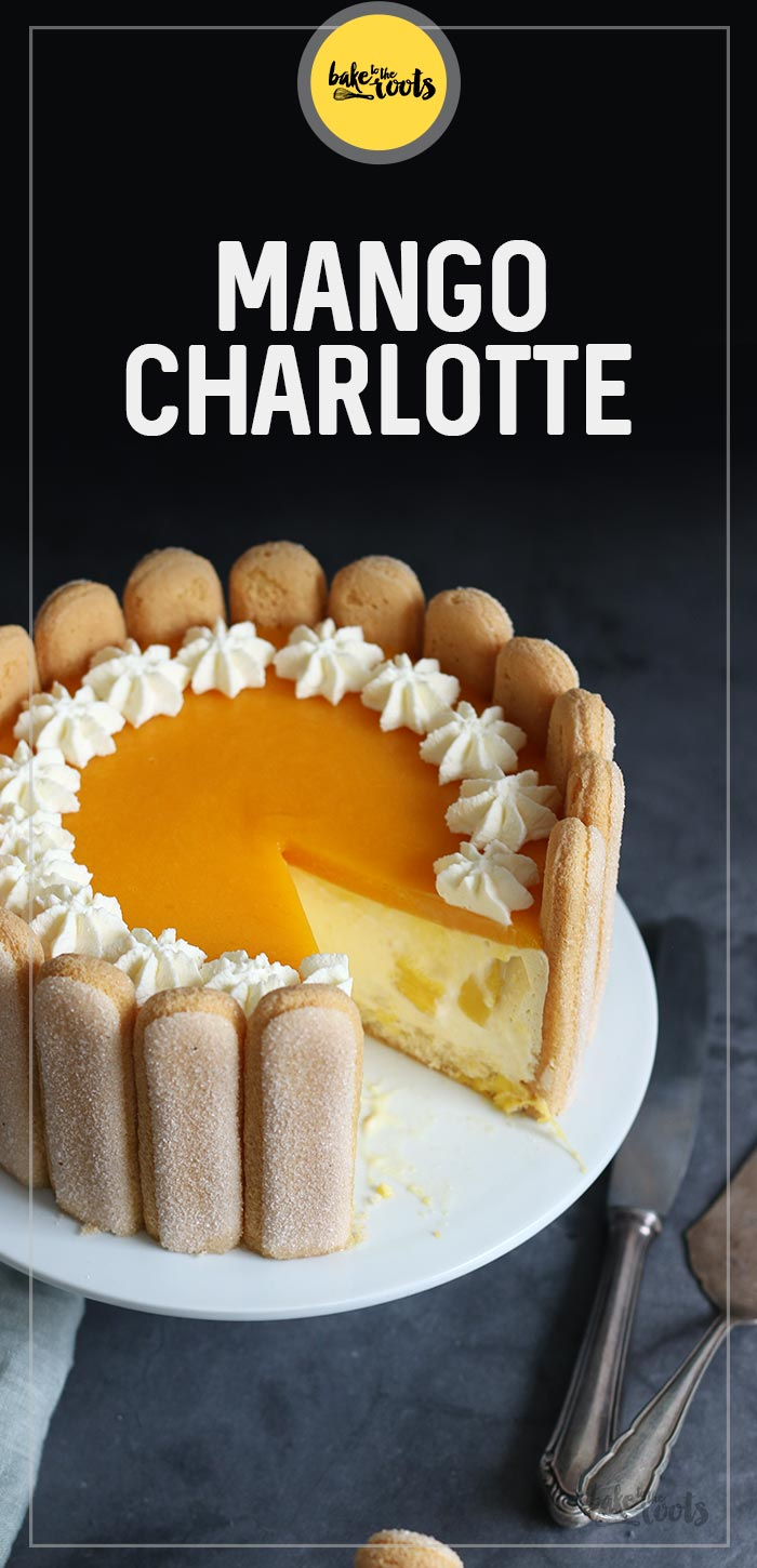Mango Cheesecake Charlotte | Bake to the roots