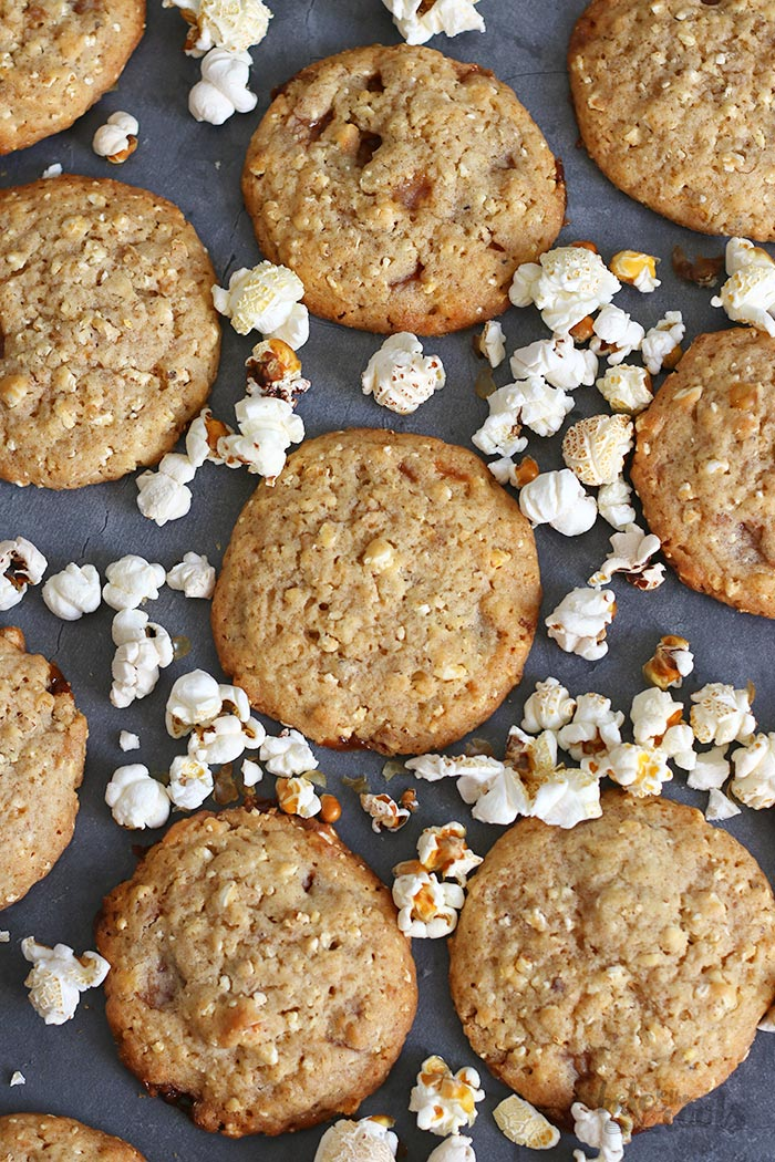 Caramel Popcorn Cookies | Bake to the roots