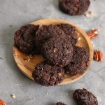 Avocado Pecan Chocolate Cookies | Bake to the roots