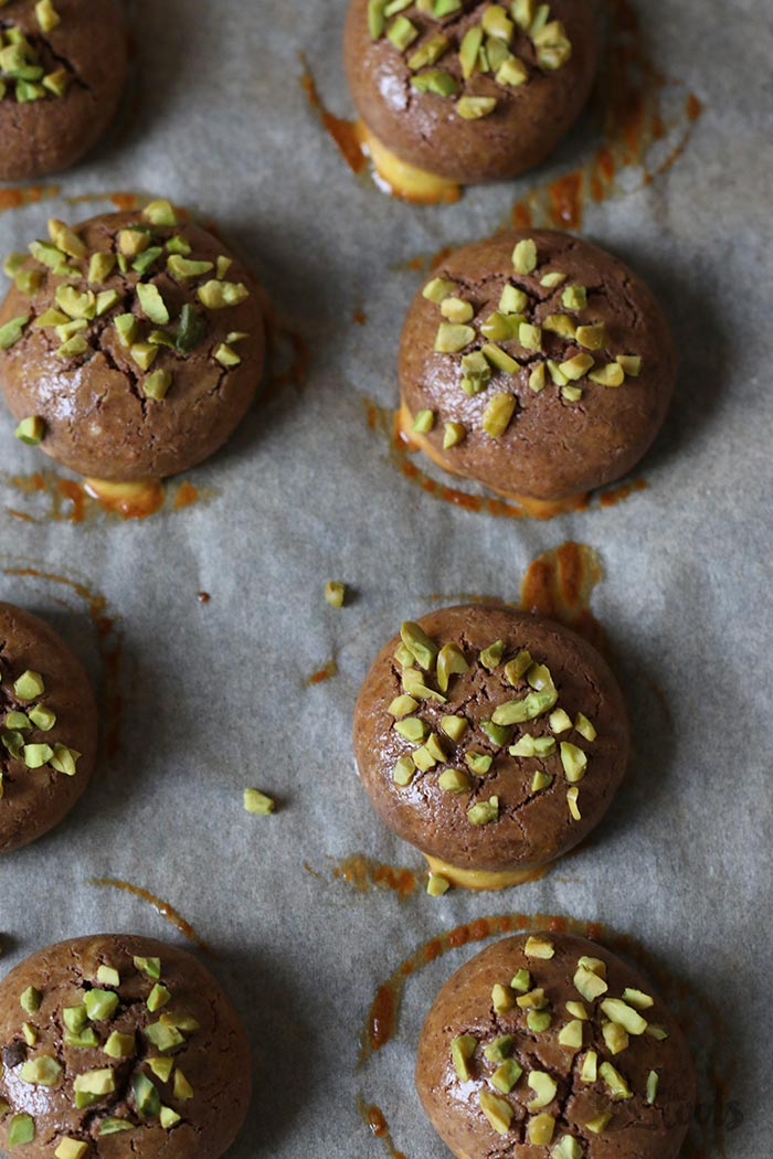 Espresso Chocolate Marzipan Cookies | Bake to the roots