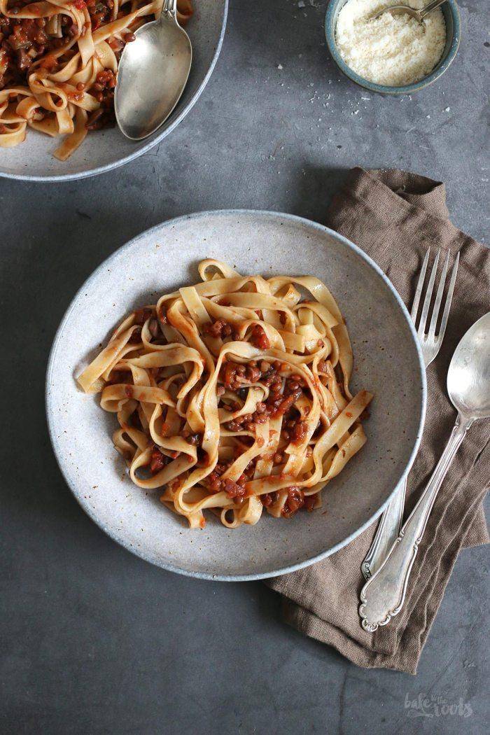 Vegan Mushroom & Lentil Bolognese | Bake to the roots