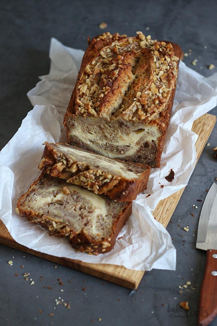 Cream Cheese Swirl Banana Bread | Bake to the roots