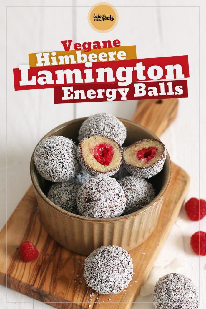 Vegane Himbeere Lamington Energy Balls | Bake to the roots