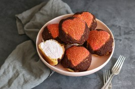 Valentine's Day Craquelin Cream Puffs | Bake to the roots
