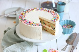 Easy Vegan Funfetti Cake | Bake to the roots