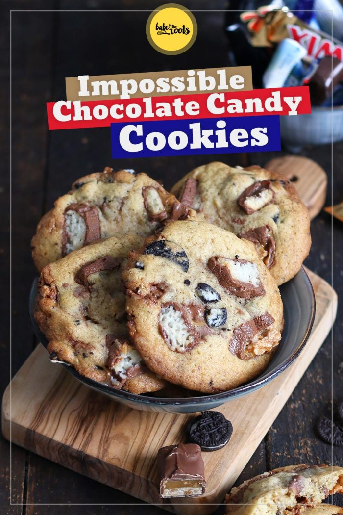 Impossible Chocolate Candy Bars Cookies | Bake to the roots