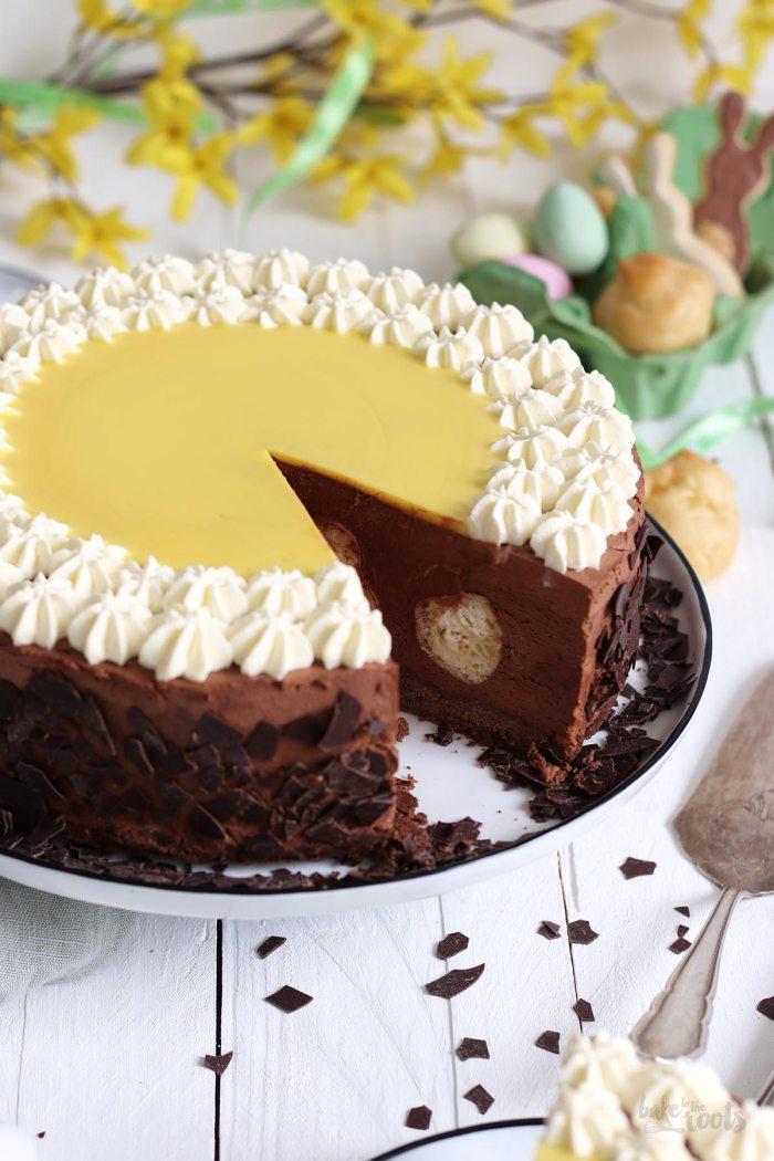 Mousse au Chocolat Windbeutel Torte | Bake to the roots