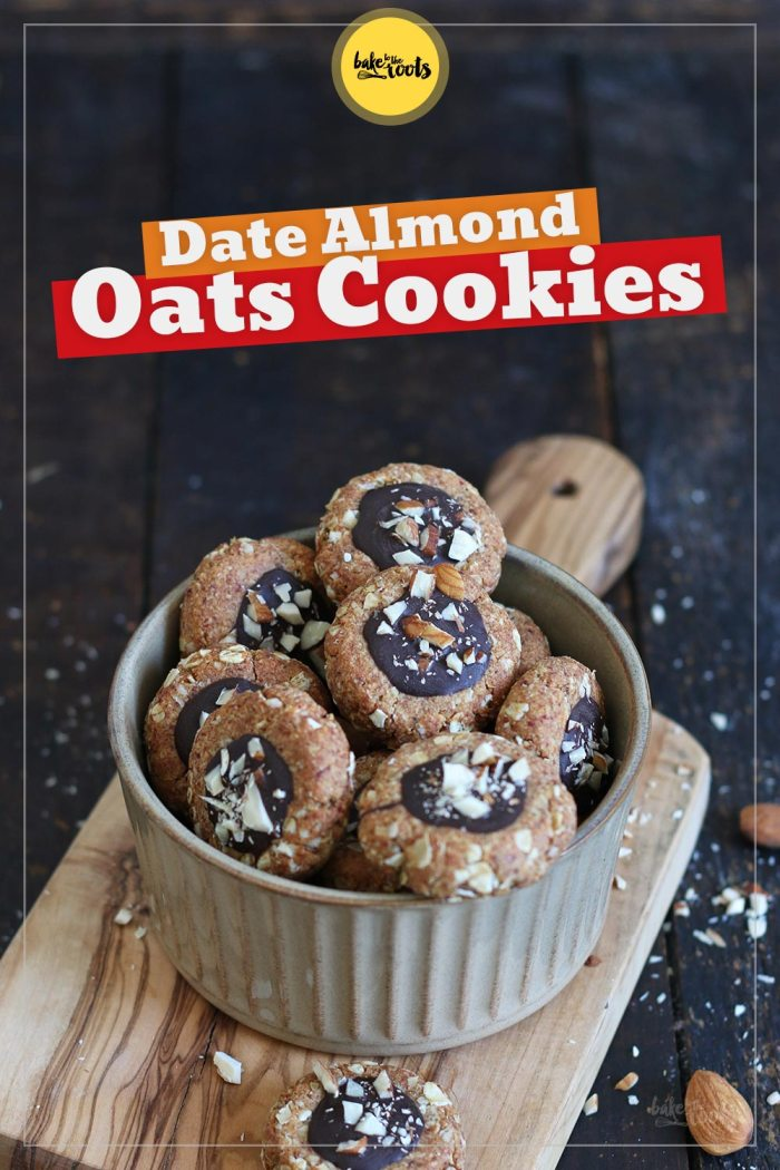 Date Almond Oats Cookies | Bake to the roots