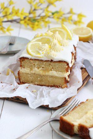 Buttermilk Lemon Pound Cake with Lemon Curd