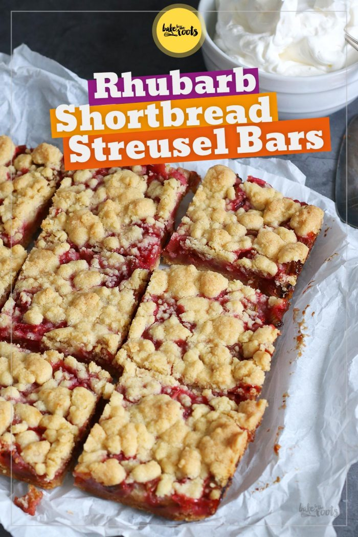 Rhubarb Shortbread Streusel Bars | Bake to the roots