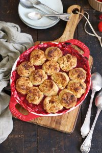 Strawberry & Raspberry Cobbler | Bake to the roots