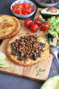 Vegan Tostadas with Refried Beans   Bake to the roots