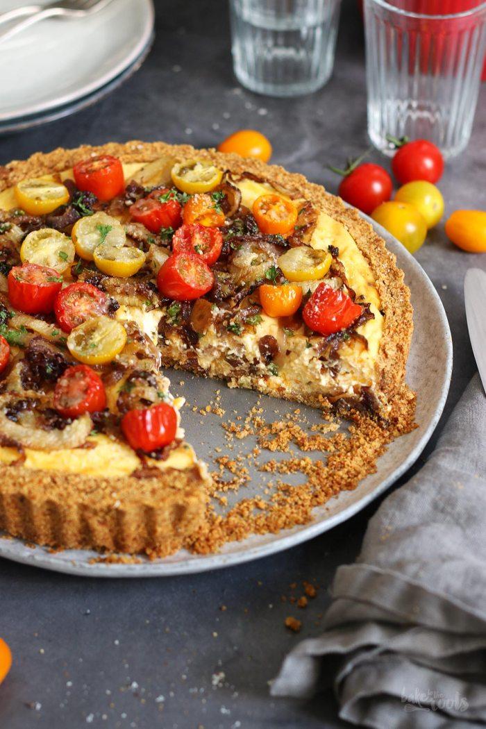 Tomaten & Fenchel Käsekuchen | Bake to the roots