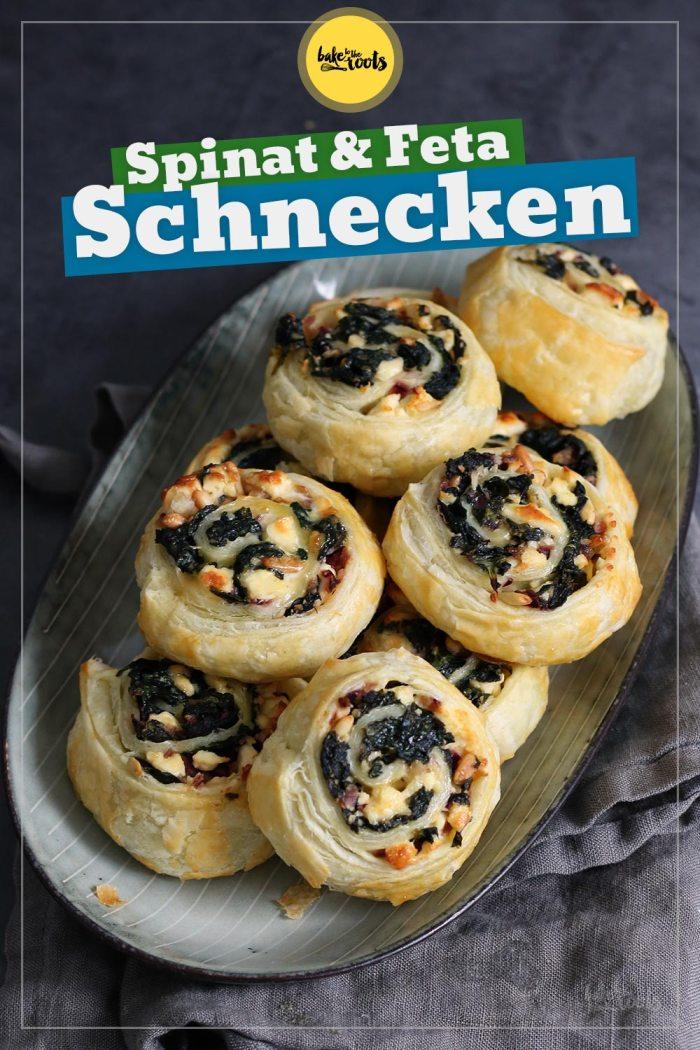 Spinat & Feta Schnecken | Bake to the roots