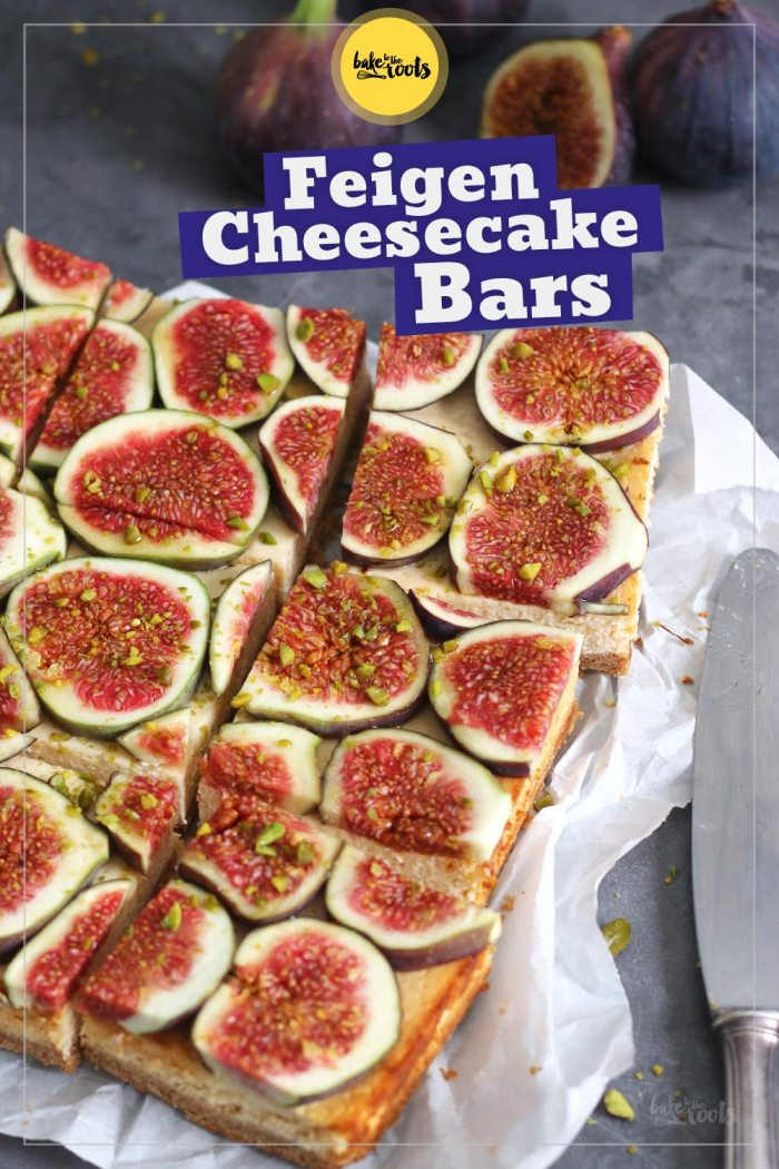 Honig Feigen Cheesecake Bars   Bake to the roots