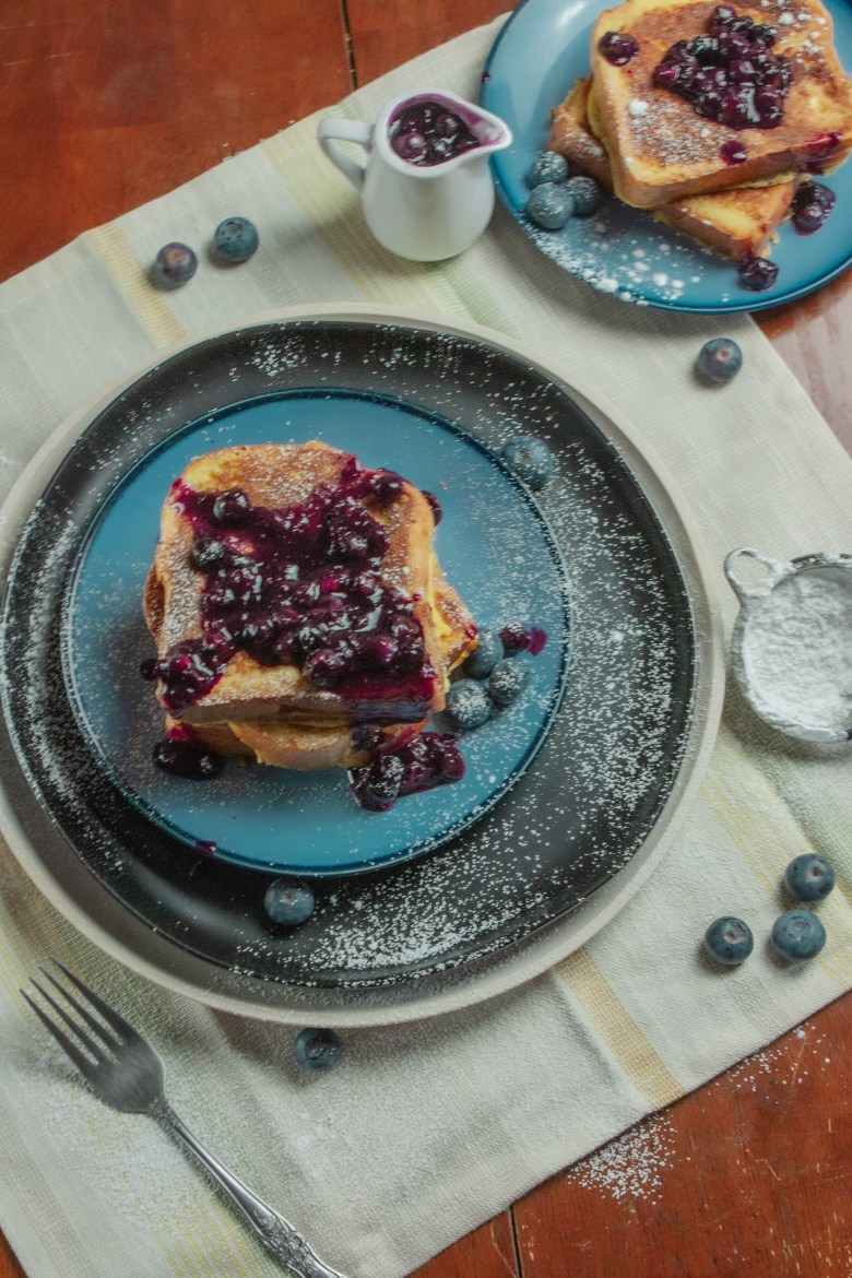 French Toast with fresh blueberries