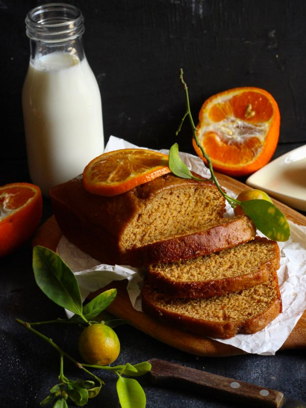 VEGAN ORANGE LOAF CAKE