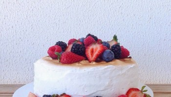 Lemon and Blueberry Cake with Buttercream frosting - Bake