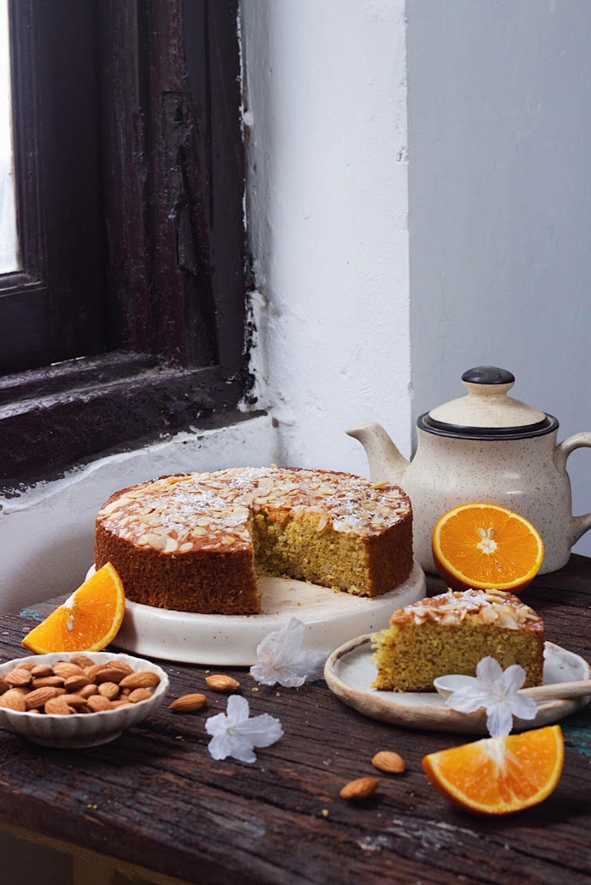 BEST ORANGE ALMOND CAKE best indian food blog shivesh bhatia