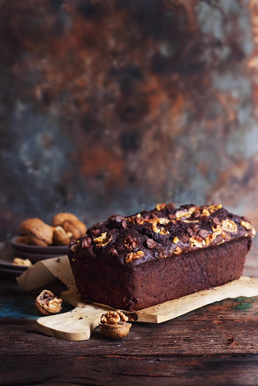 TRIPLE CHOCOLATE BANANA BREAD