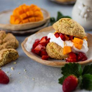 Mango and Strawberry Shortcakes