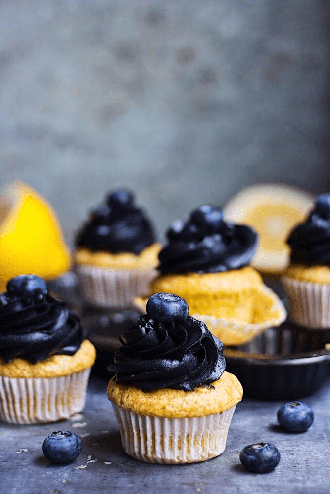 Eggless lemon cupcakes