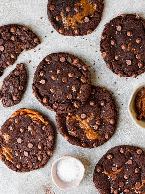 Chocolate Caramel Cookies