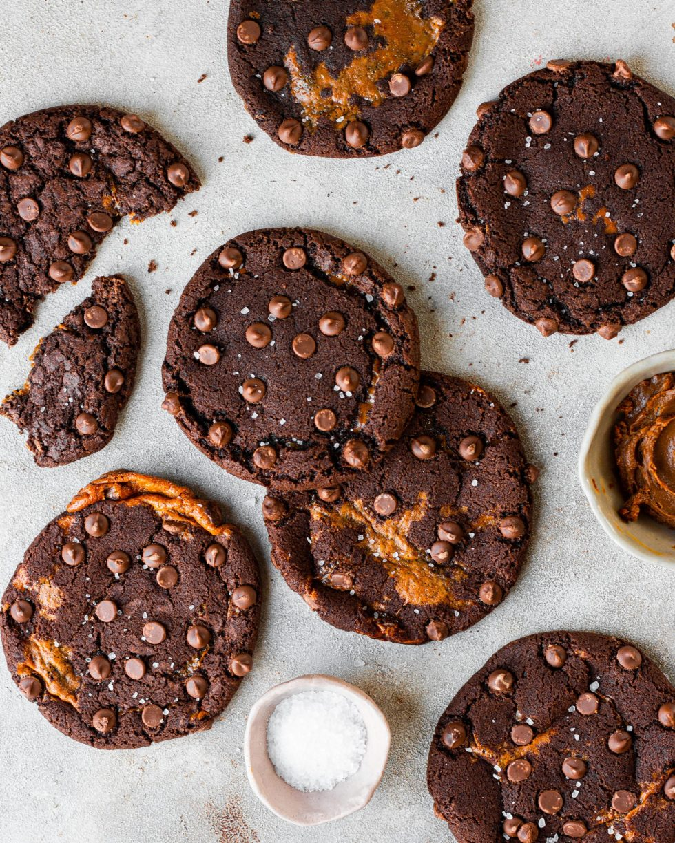 Chocolate Caramel Cookies
