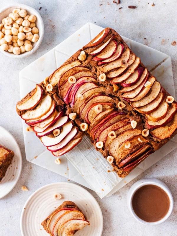 eggless wholewheat apple cake
