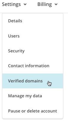 MailChimp alan adı doğrulama