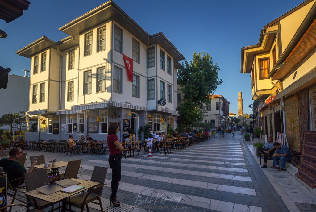 old-city-antalya-girl-standing-authentic-street-architecture