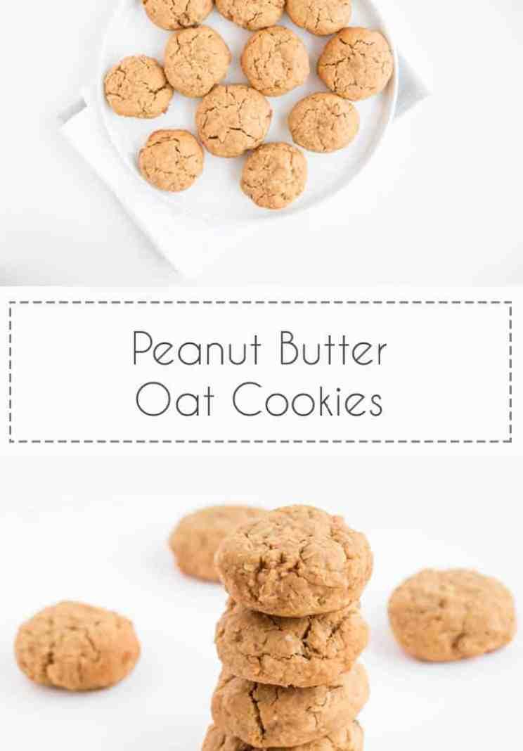 Chewy Peanut Butter Oat Cookies