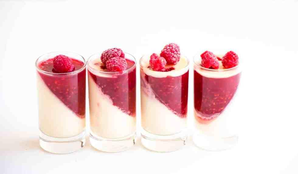 Vanilla Raspberry Pannacotta