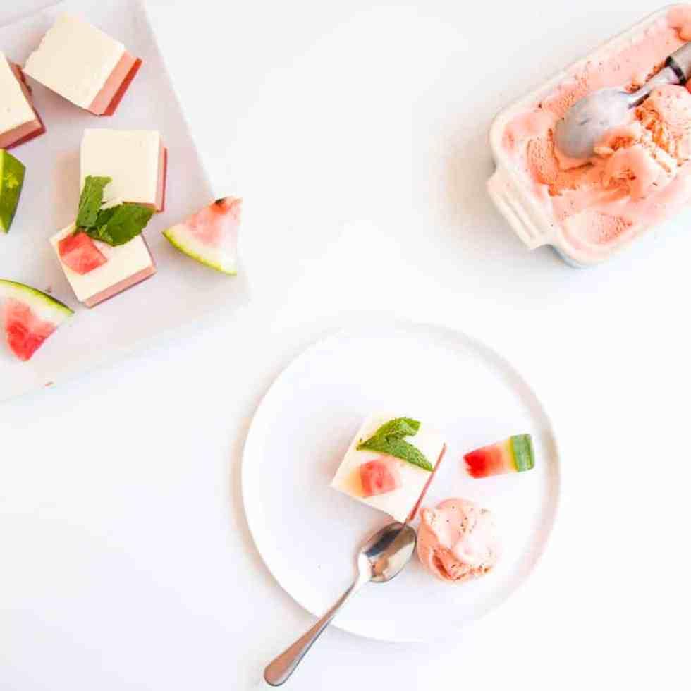 Watermelon Coconut Ice Cream