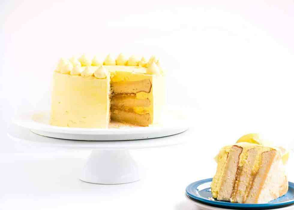 Zesty Lemon Cake with Lemon Italian Meringue Buttercream - The most lemony cake that you will ever taste, so delicious and easy to make and will wow any guests with its incredible lemon taste.