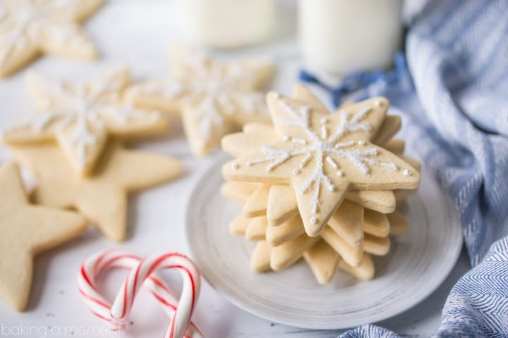 I make these vanilla cutout cookies every year, and they never disappoint! So easy to make, the dough is great to work with, and they absolutely, positively, DO NOT SPREAD when you bake them. Perfect for decorating with royal icing. food desserts cookies
