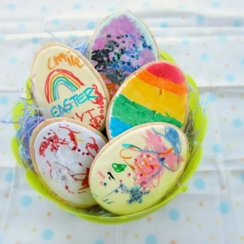 Decorating Easter Egg Cookies with Kids