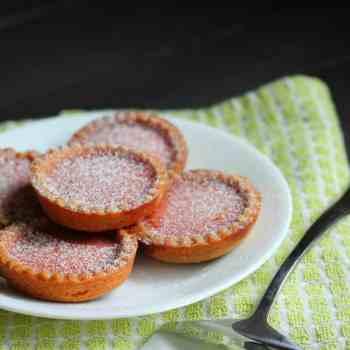 Blood Orange Tarts with Biscoff Cookie Crust
