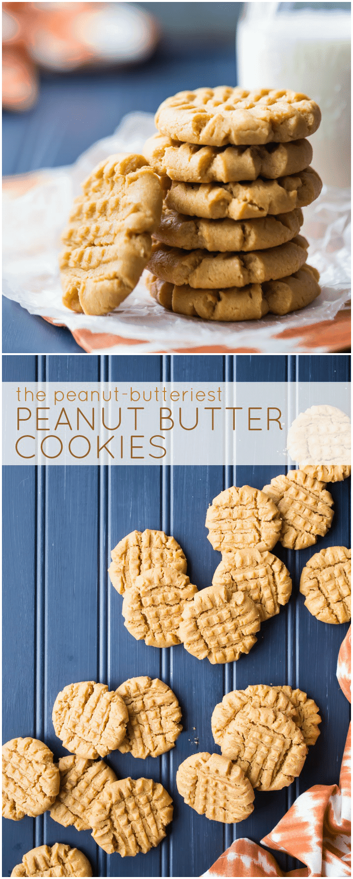 Flourless Peanut Butter Cookies: my family has been making this recipe for years and it is THE BEST! So much peanut butter flavor! #easy #chewy #soft #best #recipe #flourless #glutenfree #peanutbutter #cookies