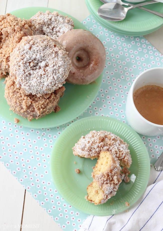 Homemade Crumb Donuts | Baking a Moment