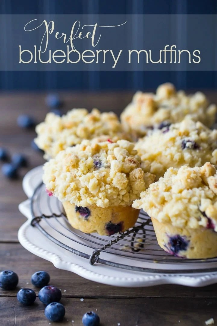 I make these blueberry muffins ALL the time and everybody always goes crazy for them!  They are so light and moist, with plenty of berries, and that buttery, lemon-y streusel crumb topping is EVERYTHING! Easy to make and they freeze beautifully.  #blueberry #muffins #blueberrymuffins #easy #best #lemon #homemade #withcrumbletopping #moist #withgreekyogurt #recipe #buttermilk #sourcream #streusel #bakerystyle #fromscratch #fresh #fluffy #video #breakfast #onebowl
