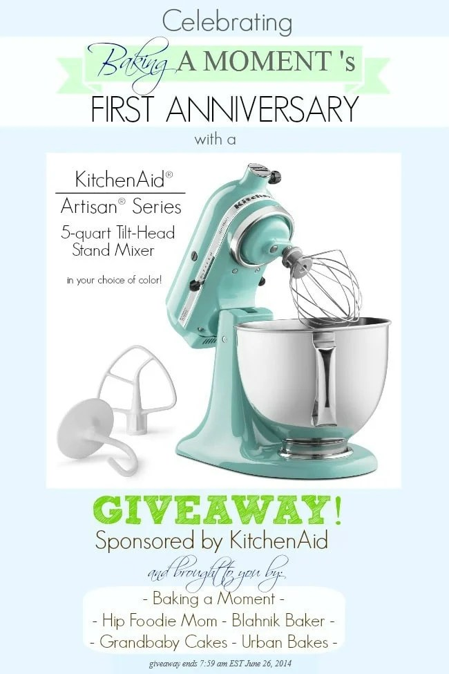 KitchenAid Stand Mixer Giveaway | Baking a Moment