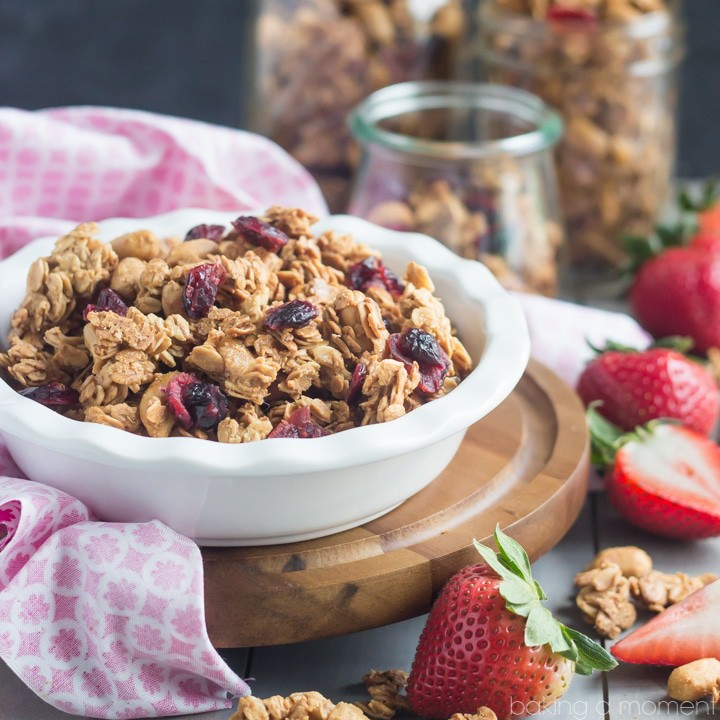 Peanut Butter and Jelly Granola #BrunchWeek