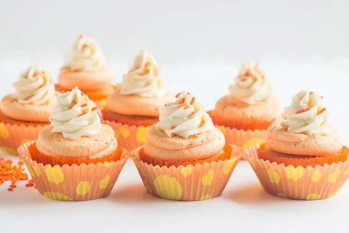 Orange Creamsicle Cupcakes- these are so fun!