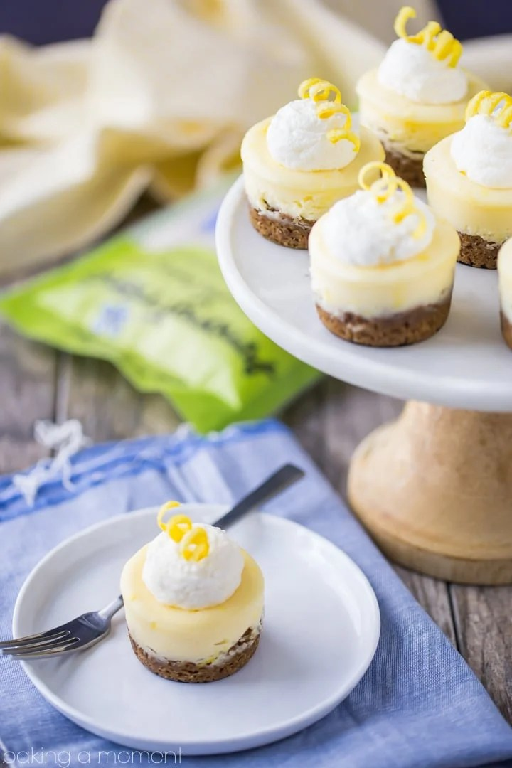 Mini Lemon Cheesecakes with Ginger Cookie Crust - Baking A ...