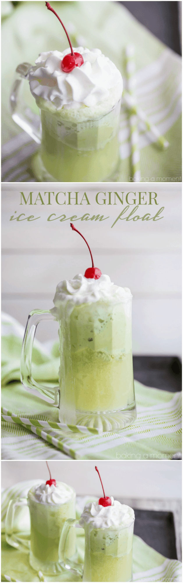 Loved the flavor combination in this Matcha Ginger Ice Cream Float! Definitely will be making this for St. Patrick's Day ;)